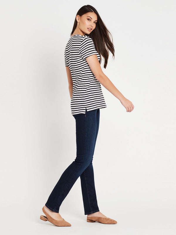 Hailey Short Sleeve T-Shirt Midnight White Stripe - Mavi Jeans