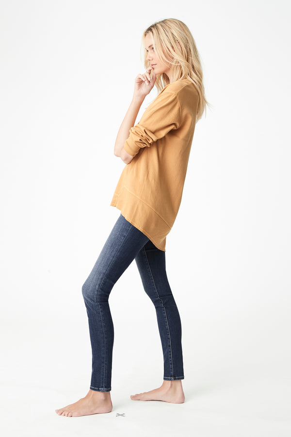 Dylan High-Low Hem Sweat in Marigold - Mavi Jeans