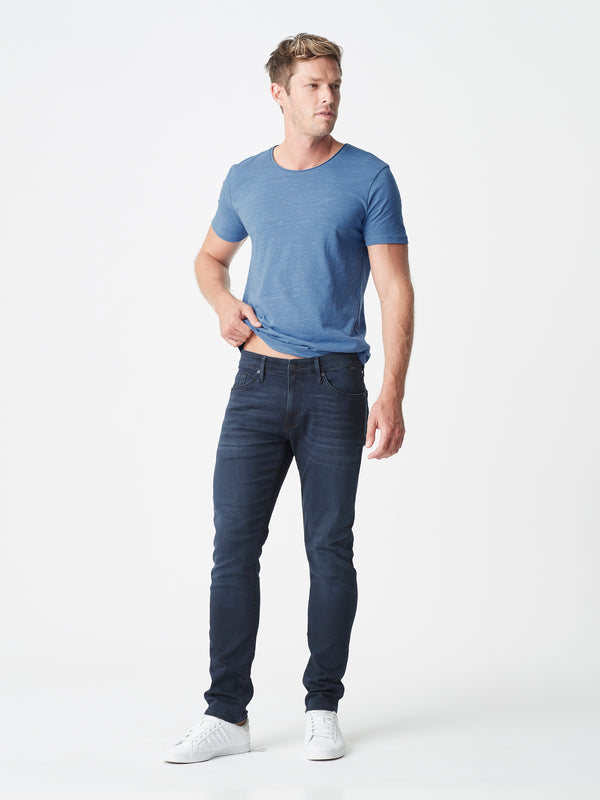 Jake Slim Skinny Jeans in Blue Black Athletic - Mavi Jeans
