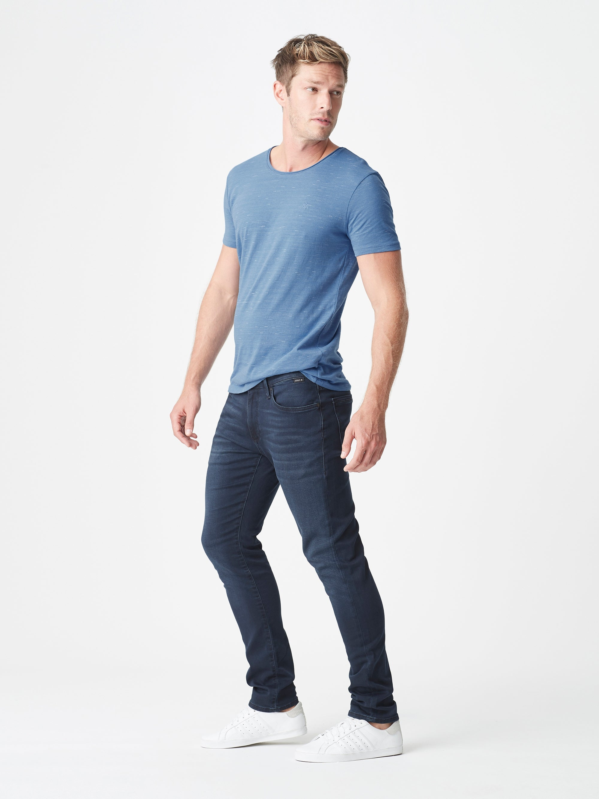 Jake Slim Skinny Jeans in Blue Black Athletic