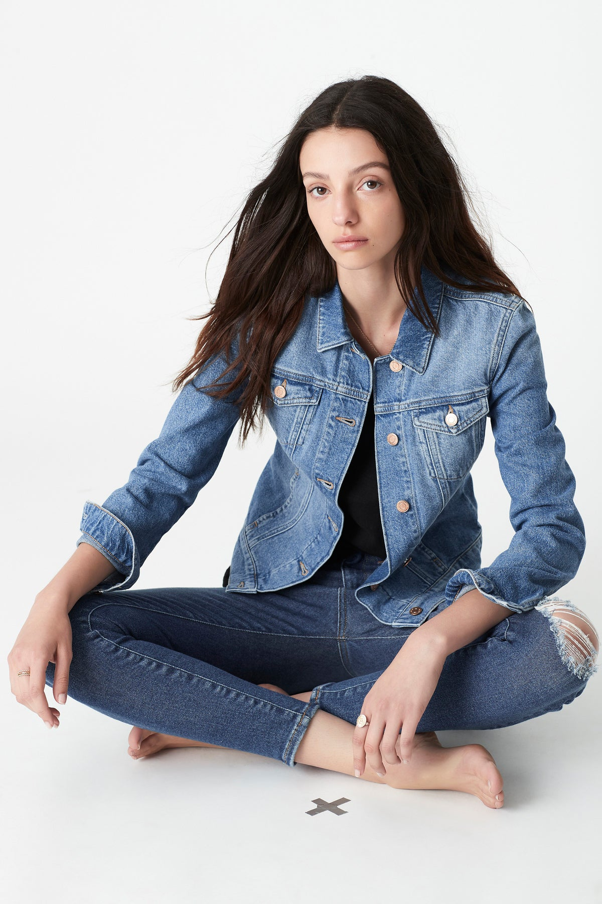 Daisy Denim Jacket in Mid Used Denim