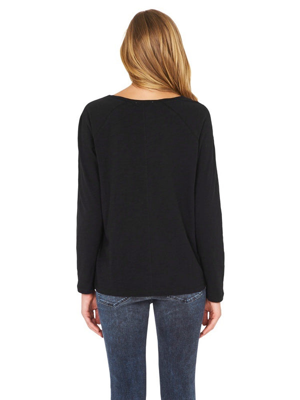Leah Long Sleeve Tee Black - Mavi Jeans