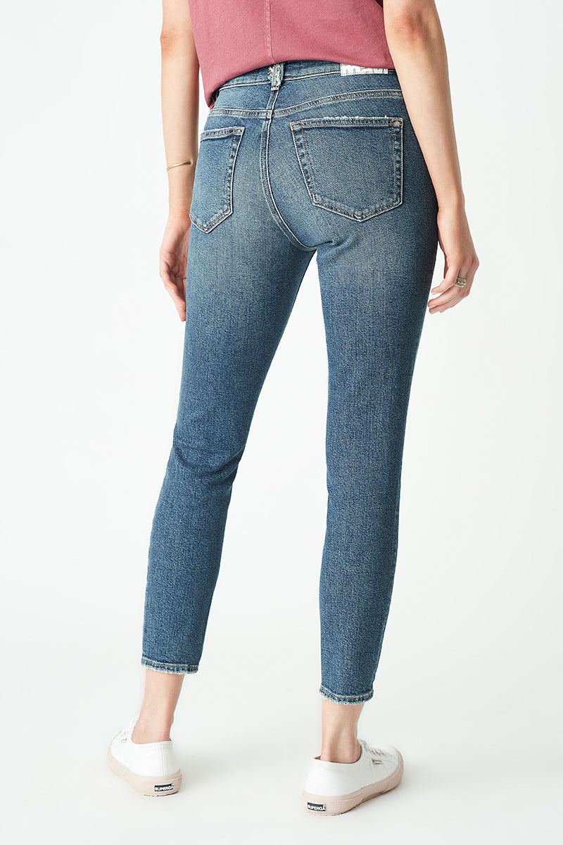 Tess Skinny Jeans in Mid Used Blue Denim