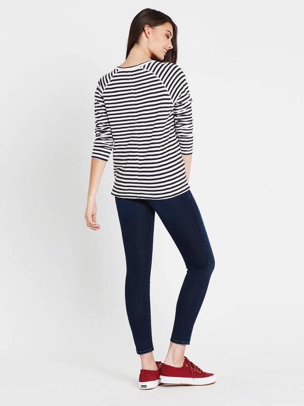 Sonya Long Sleeve T-Shirt Midnight White Stripe - Mavi Jeans
