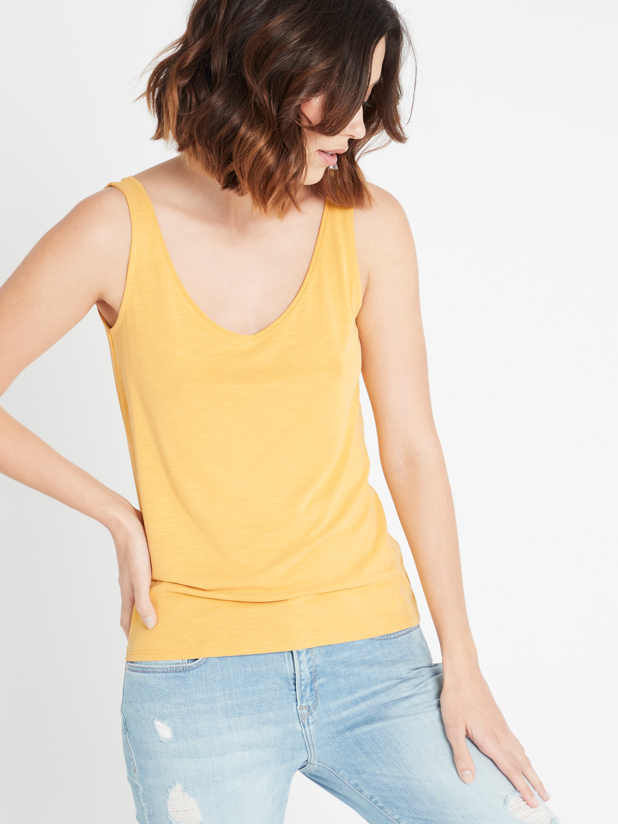 Womens Singlet in Yellow