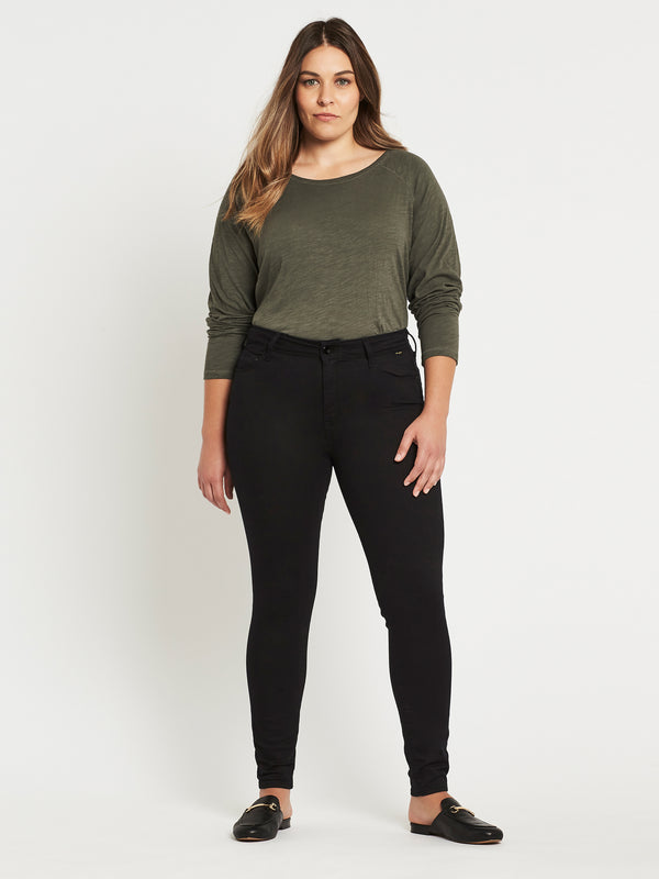 Alissa Ankle Skinny in Double Black Gold Reform - Mavi Jeans