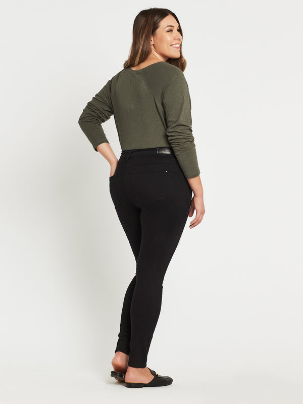 Alissa Ankle Curve Skinny in Double Black Gold Reform - Mavi Jeans