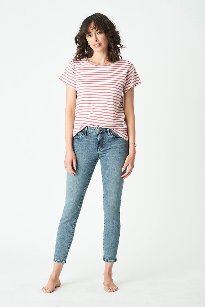 Adriana Ankle Skinny Jeans in Shaded Glam