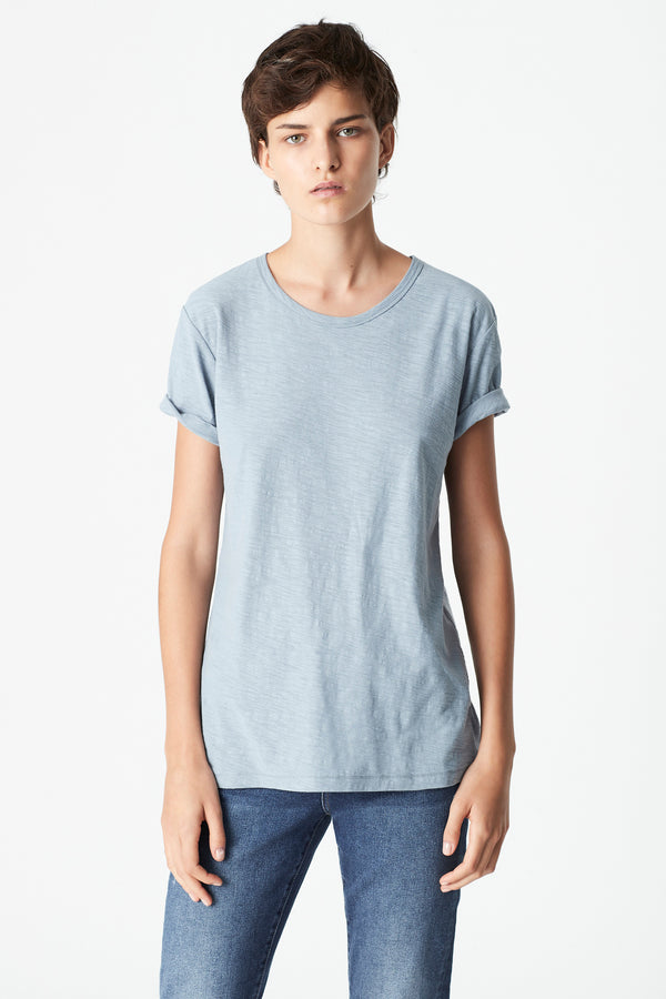 Evie Rolled Sleeve T-Shirt in Slate - Mavi Jeans