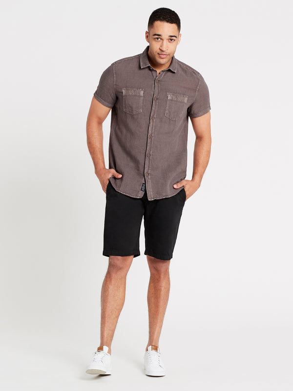 Mens Short Sleeve Shirt Grey - Mavi Jeans