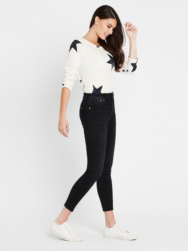 Lucy Super Skinny Ankle in Smoke Milan Stretch - Mavi Jeans