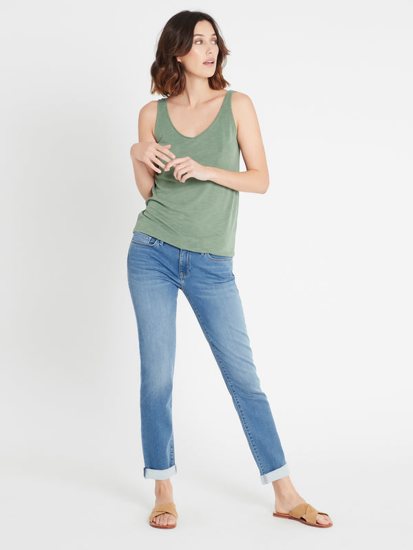 Womens Singlet in Green - Mavi Jeans