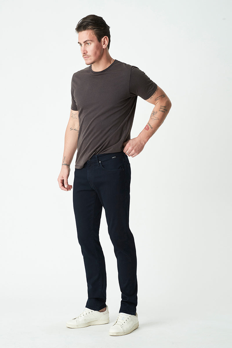 Marcus Slim Straight Jeans in Ink Supermove