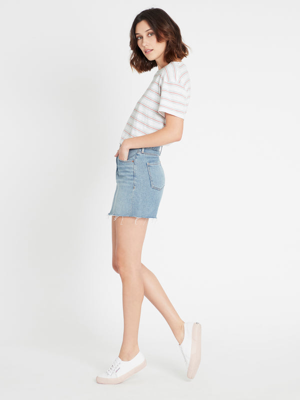 Lindsay Short Skirt Shaded Indigo Denim - Mavi Jeans