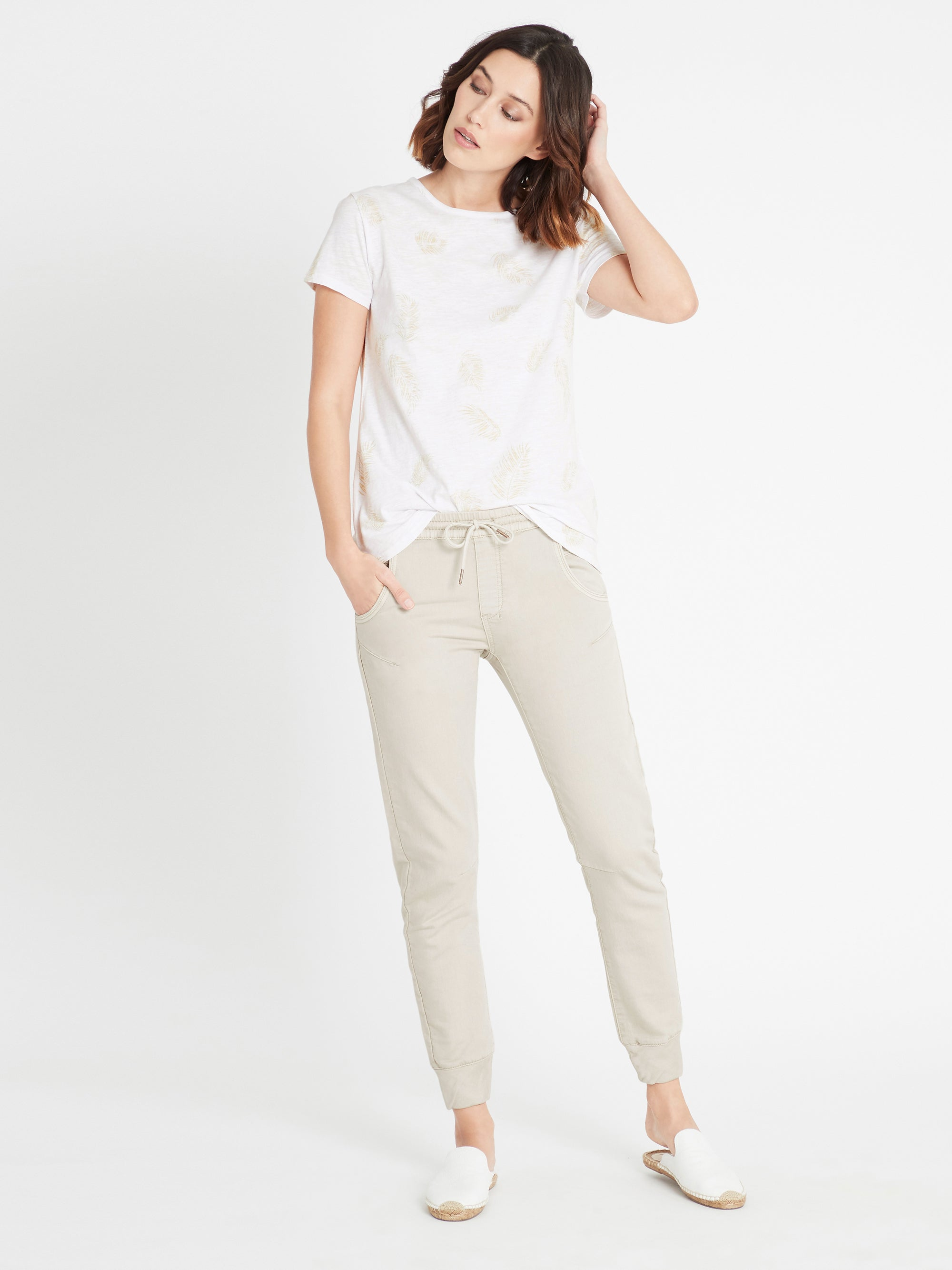 Holly Jogger Pant in Cement Sporty