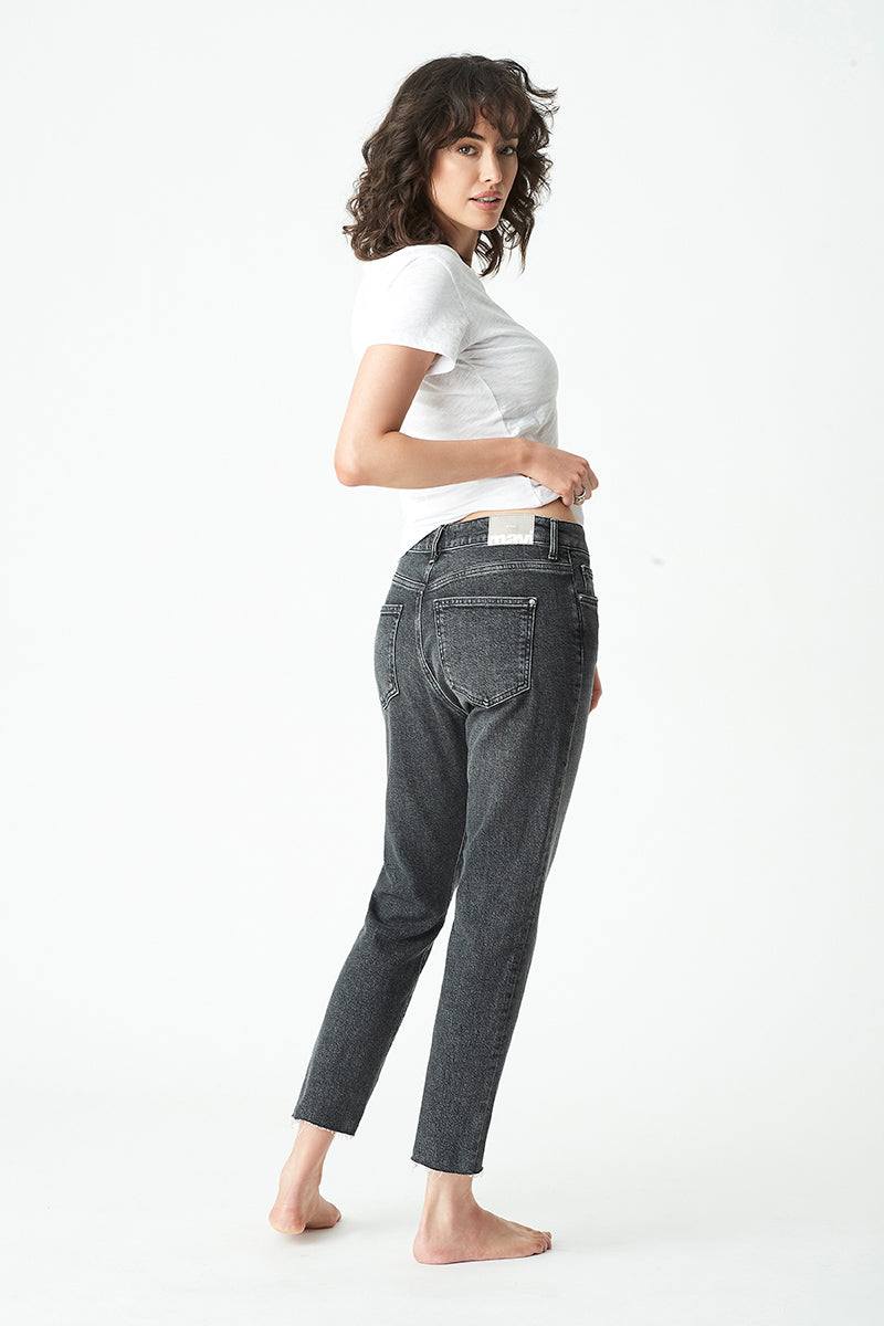 Viola Straight Jeans in Smoked Brushed Denim