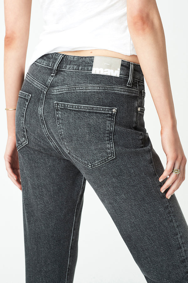 Viola Straight Jeans in Smoked Brushed Denim - Mavi Jeans