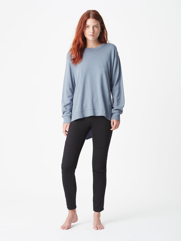 Dylan Long Line Sweat Slate - Mavi Jeans