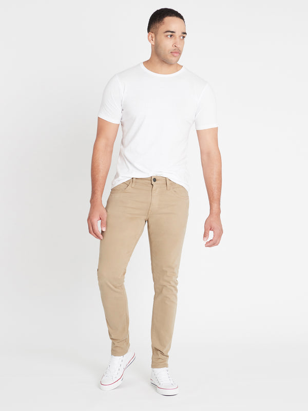Jake Slim Chino British Khaki Twill - Mavi Jeans