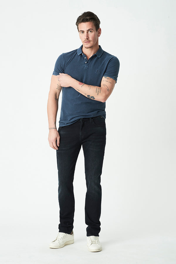 Marcus Slim Straight Jeans in Ink Brushed Mavi - Mavi Jeans