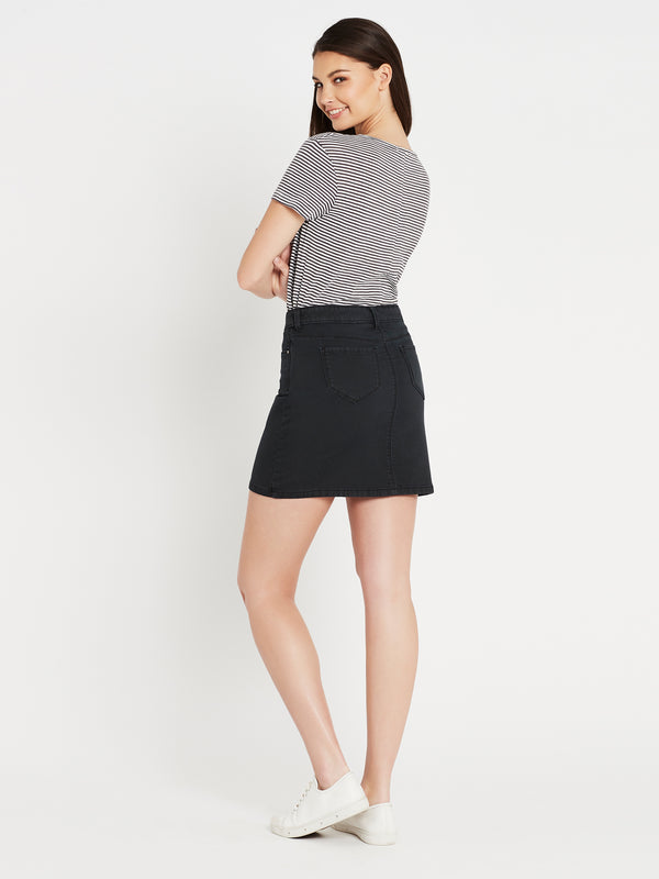Alice A Line Skirt in Smoke Washed Sporty - Mavi Jeans
