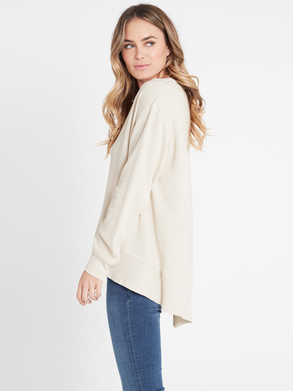 Dylan Long Line Sweat Stone - Mavi Jeans