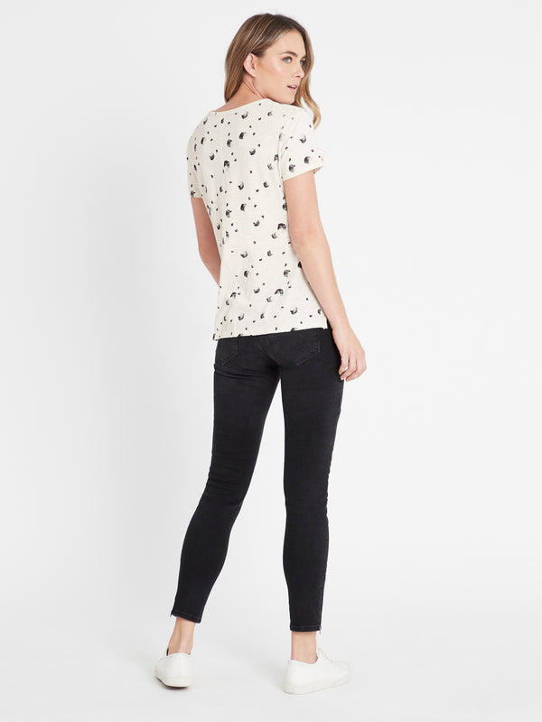 ROMY Short Sleeve T-Shirt in Stone Swish - Mavi Jeans