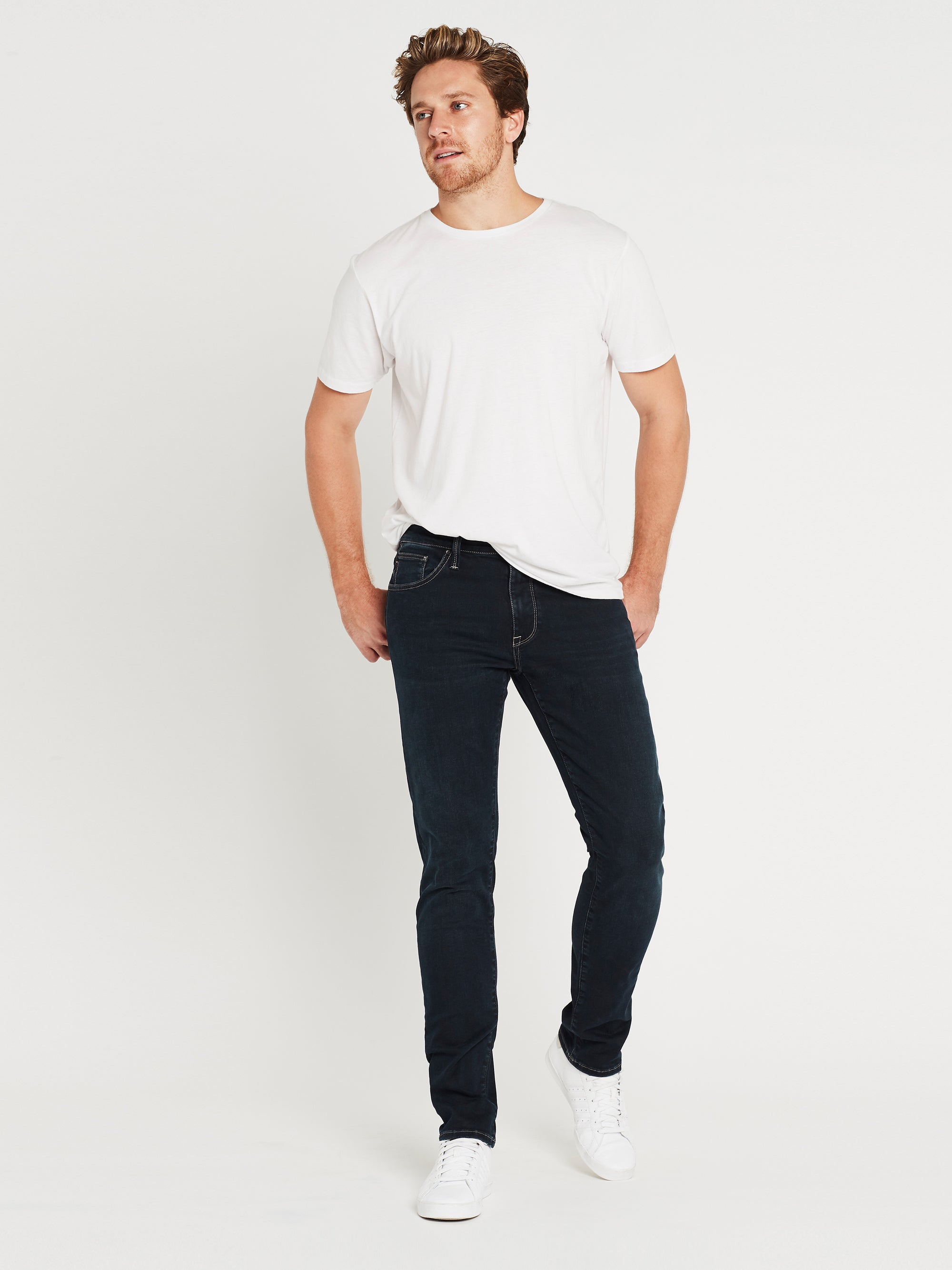 Jake Skinny in Deep Blue White Edge