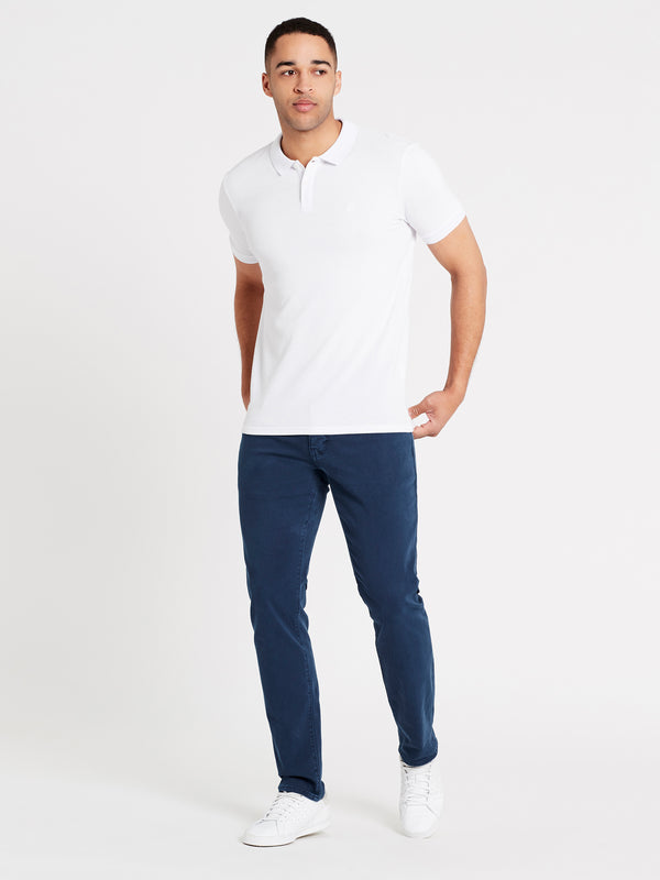 Mens Short Sleeve Polo Shirt White - Mavi Jeans
