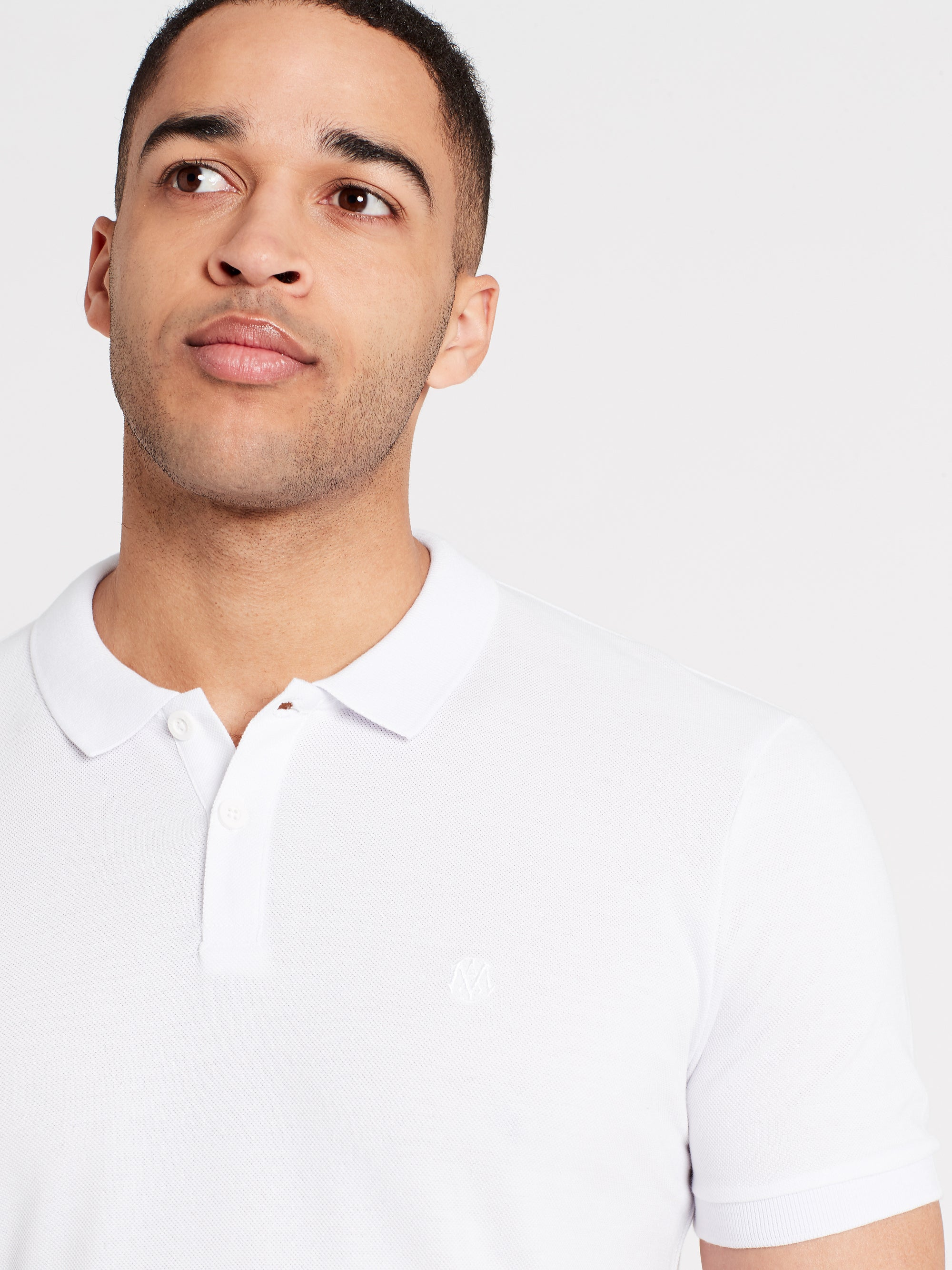 Mens Short Sleeve Polo Shirt White