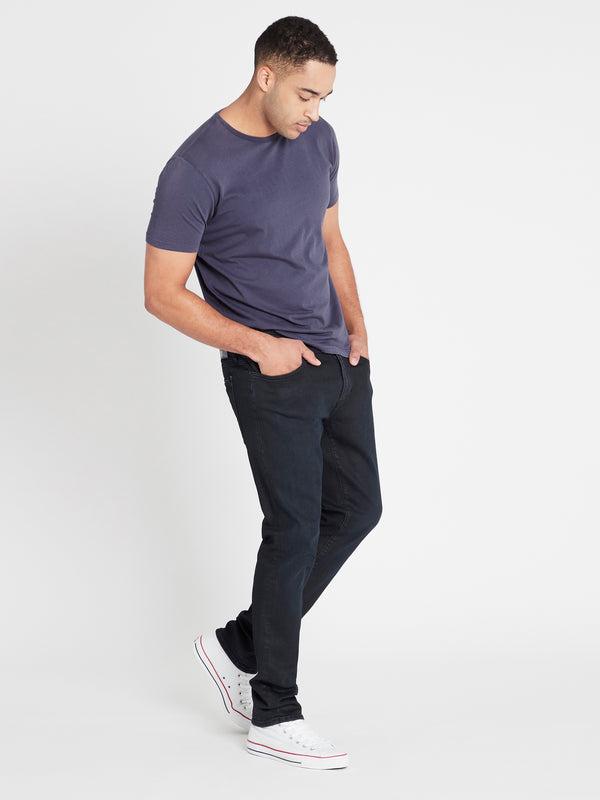 Yves Skinny in Ink Coated Mavi Jet Black - Mavi Jeans