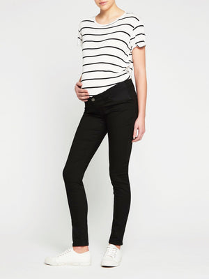 7b4e5051f5a61 Reina Low Rise Skinny Maternity Jeans Black Super Stretch - Mavi Jeans ...