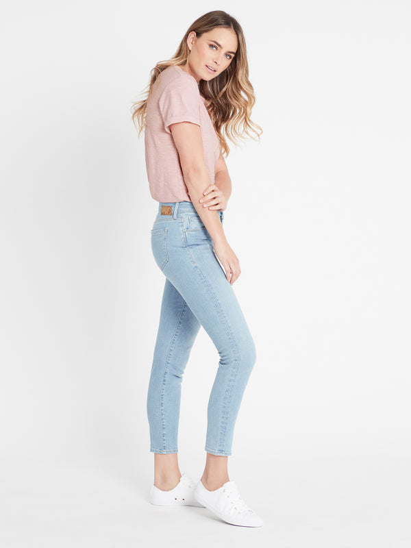 Alissa Ankle Skinny Jeans in Light Blue 90's - Mavi Jeans