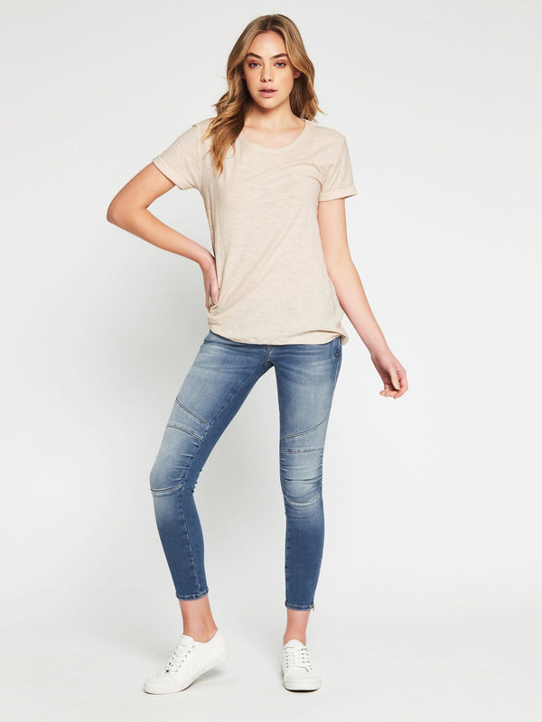 Evie Short Sleeve T-Shirt Turtle Dove - Mavi Jeans