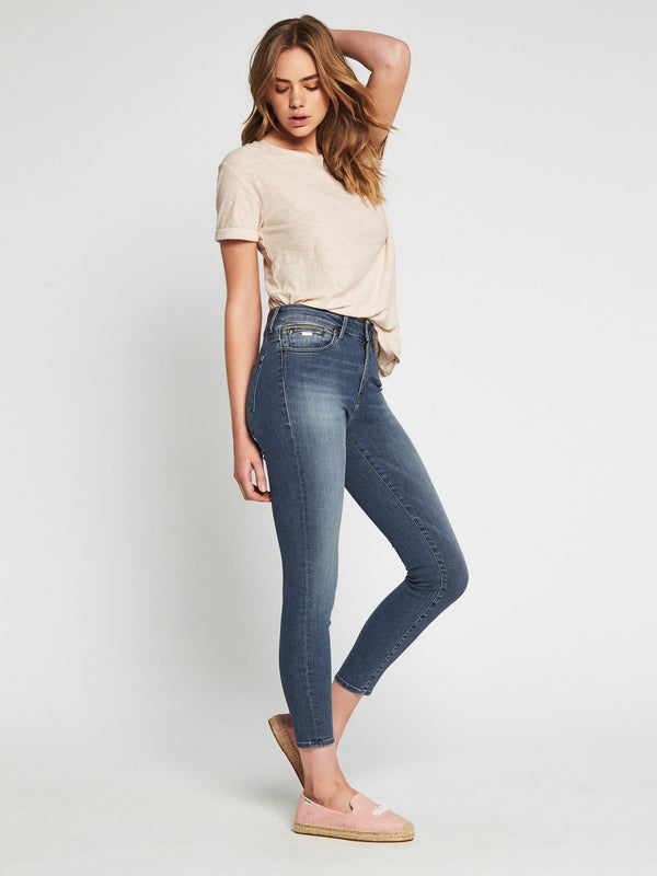 Alissa Ankle High Rise Skinny Light Gold Edge - Mavi Jeans