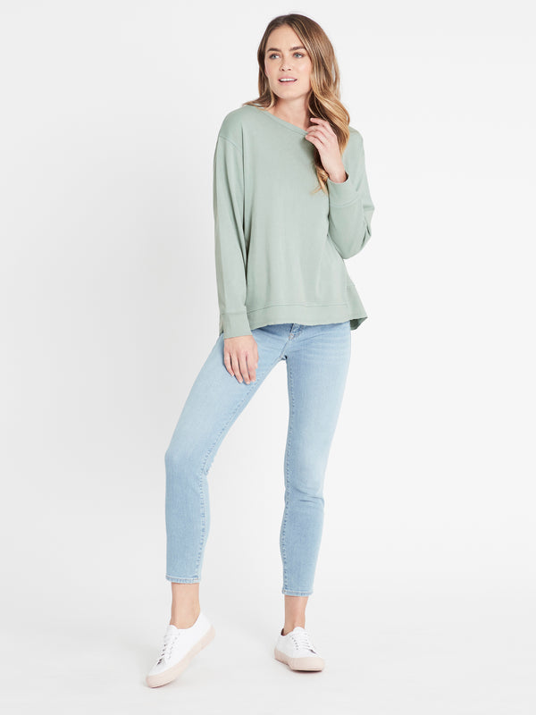 Dylan Long Line Sweat Seagrass - Mavi Jeans