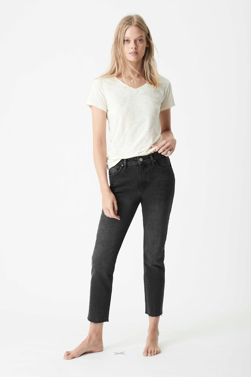 Viola Straight Jeans in Smoke Denim