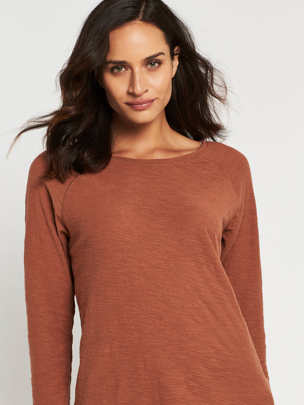 Leah Long Sleeve T-Shirt in Rust - Mavi Jeans