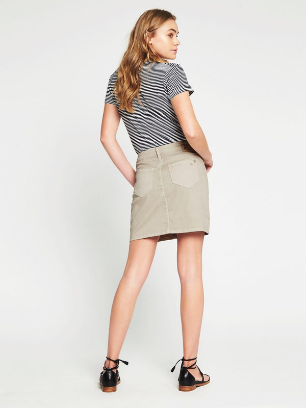 ALICE A Line Skirt in Cement - Mavi Jeans