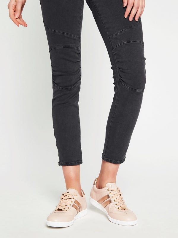 Jesy Low Rise Skinny Ankle Biker Jean Smoke Washed Stretch - Mavi Jeans