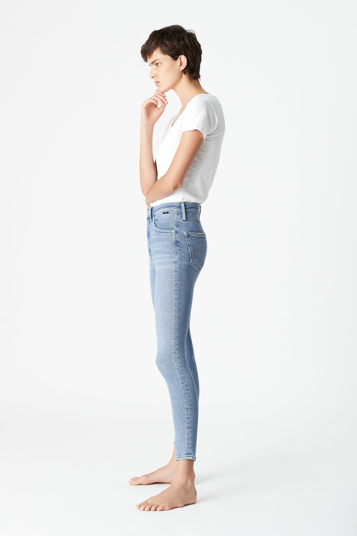Scarlett Skinny Curve Jeans in Light Shaded LA Vintage