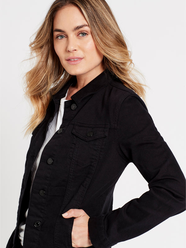 Daisy Denim Jacket in Black Stretch - Mavi Jeans