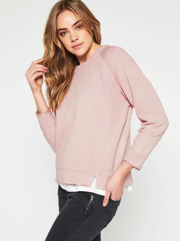 Kerrith Long Sleeve Sweat Washed Rose - Mavi Jeans