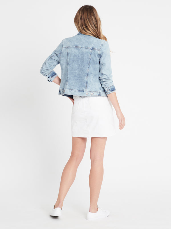 Samantha Crop Denim Jacket Bleach Vintage - Mavi Jeans