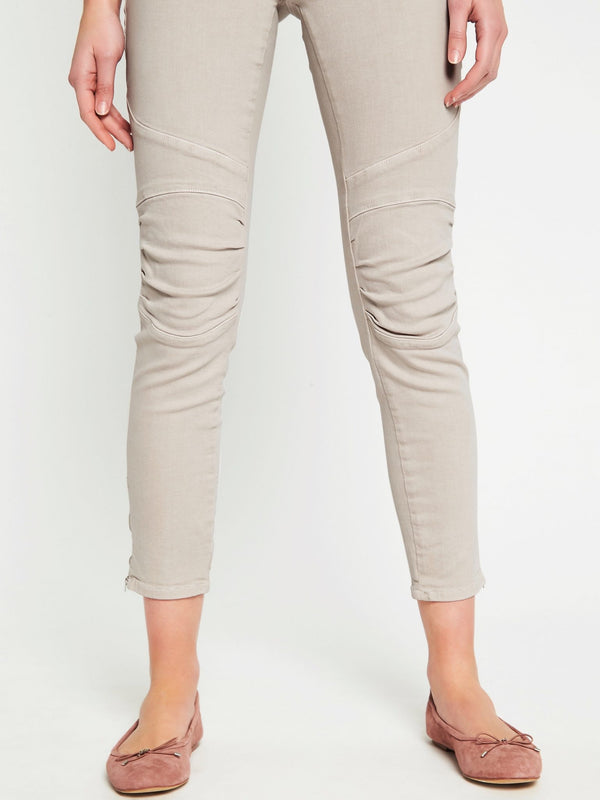 Jesy Skinny Ankle Biker in Silver Grey Washed Stretch - Mavi Jeans