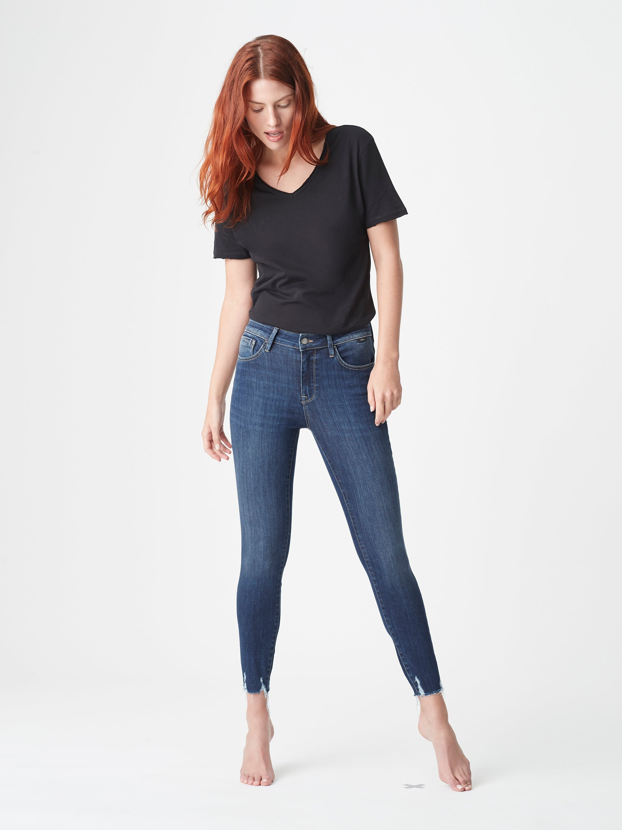 Tess Super Skinny Jeans in Dark Used Destroyed Supersoft