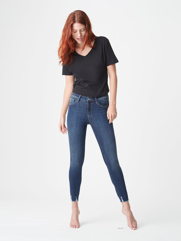 Tess Skinny Jeans in Dark Used Destroyed Supersoft - Mavi Jeans