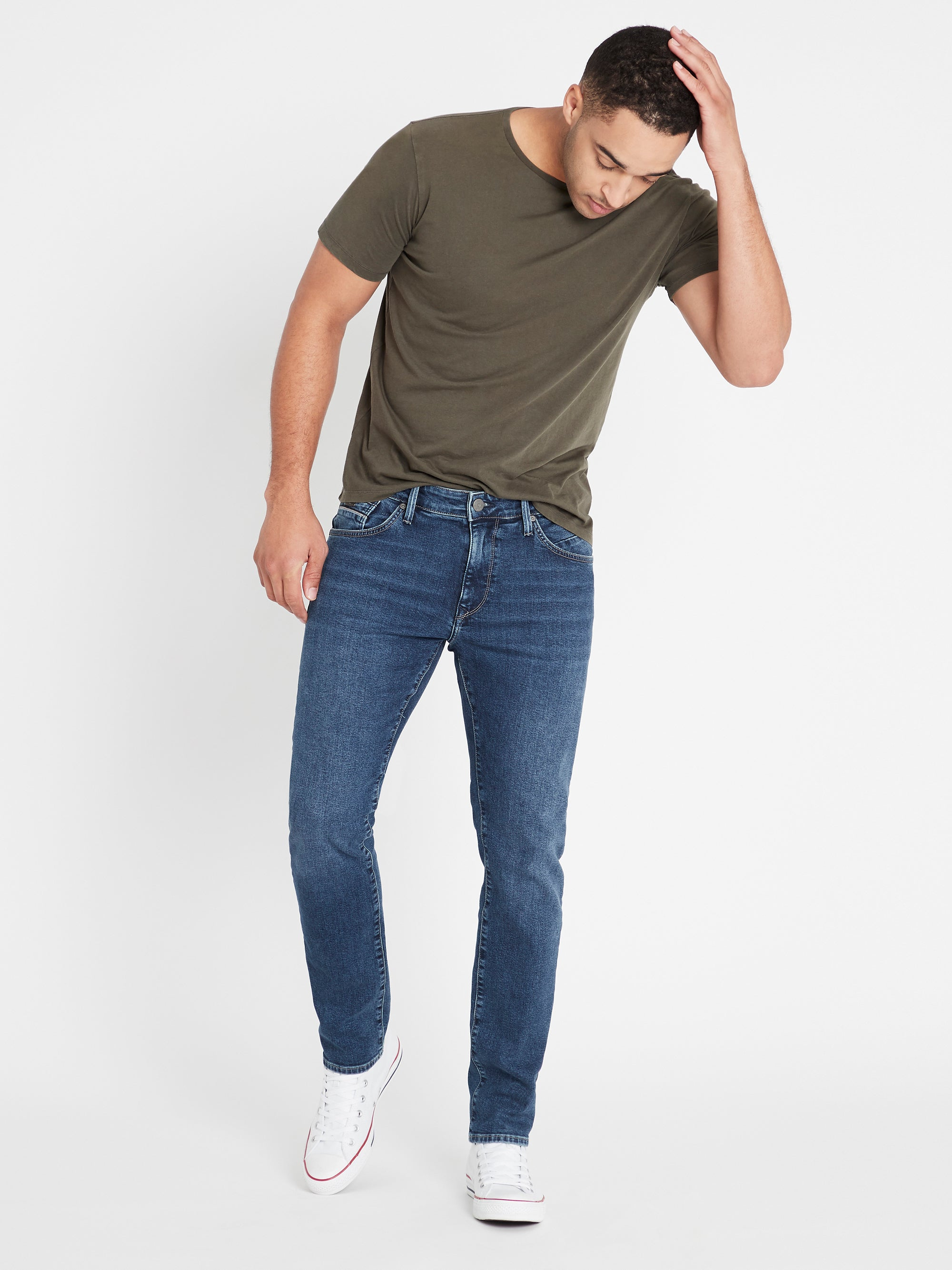 Marcus Slim Straight Jeans in Dark Mavi
