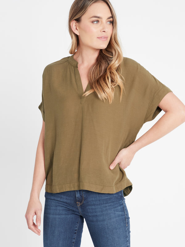 Womens Short Sleeve Shirt Khaki - Mavi Jeans