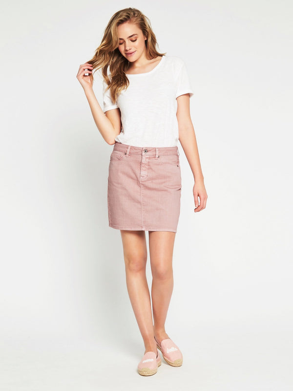 Alice A Line Skirt in Cameo Rose - Mavi Jeans